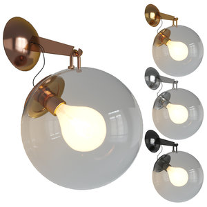 3D miconos wall light