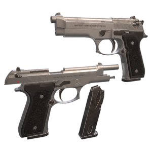 weapons guns pistols 3D
