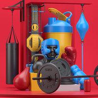 Boxing Design Set