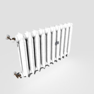 3D pbr vintage radiator model