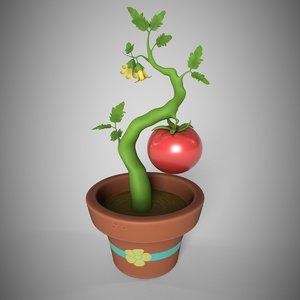 tomato tree production 3D model