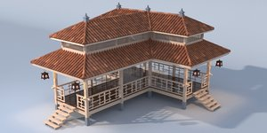 traditional tea house model