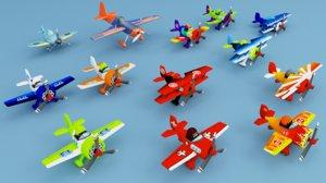 aircraft games cartoon 3D model