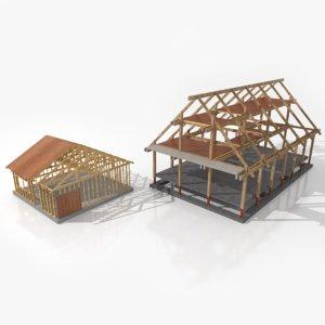 3D construction home lights model