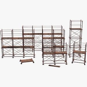 old rusty scaffolds 3D model