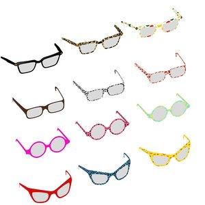 eyeglasses glasses optic 3D model