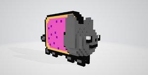 nyan cat 3D model