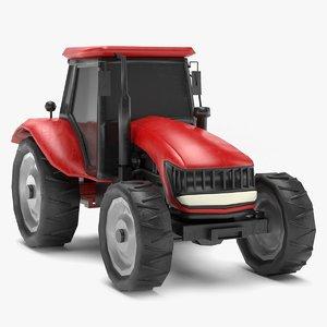 3D tractor polys model