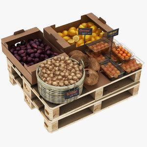 greengrocer rack pallet basket model