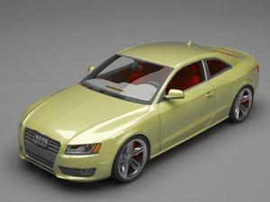 aud a5 coupe 3D model