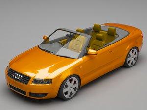 3D audi a4 cabrio