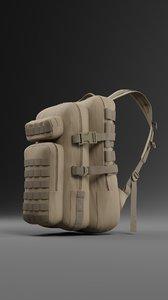 3D model tactical backpack 3 color