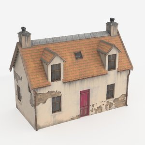 3D model scottish house