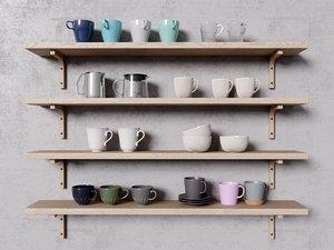 3D ikea tea coffee model