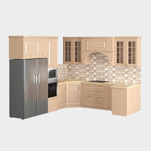 kitchen set 3D model