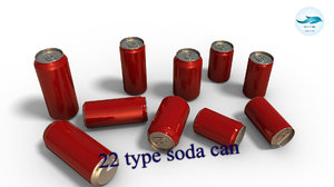 pack 22 soda drink cans model