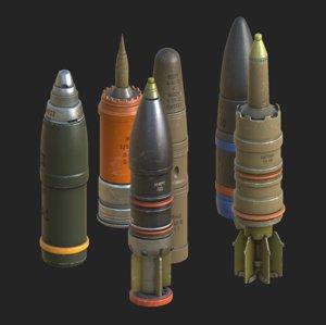 3D tank shells model