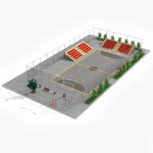 street stadium 3D model