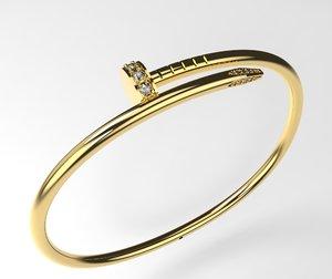 nail bracelet 3D model