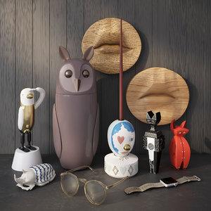 decoration set 3D model
