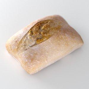 3D pastry bun model