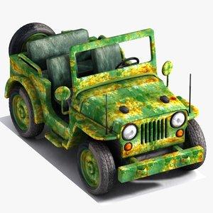 military jeep toon model