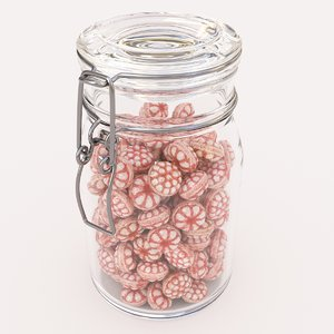 candy jar berry 3D model
