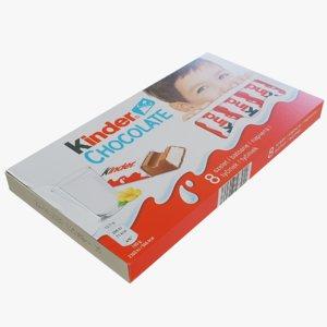 kinder chocolate package 3D model