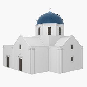3D model greek church