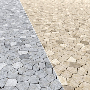 paving blocks geometry 3ds