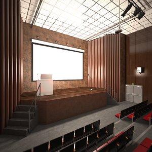 3D auditorium scene lights model