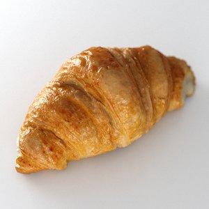 pastry croissant 3D model