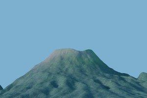 3D volcano mount ibu indonesia