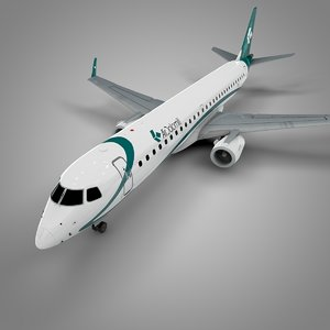 air dolomiti embraer195 l675 3D