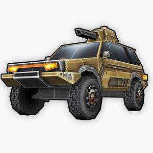 stylized rts retro truck 3D model
