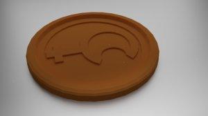 coaster lilith 3D model