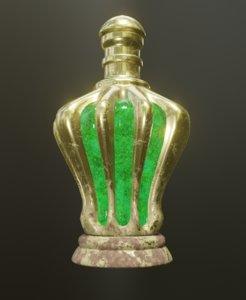 Gold Potion Bottle