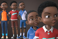 AFRO BOY- CARTOON RIGGED BLACK BOY(1)