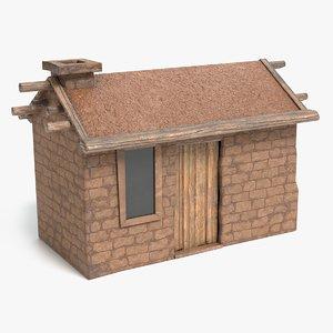3D african house