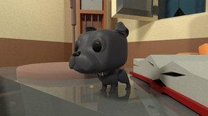 3D custom pop dog blue
