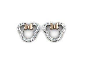3D micky face earrings