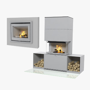 fireplaces wood burning 3D model