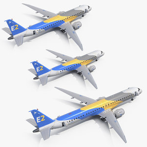 jet airliners embraer 3D