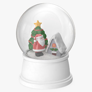 snow globe christmas decoration 3D
