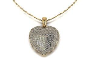 3D hearth pendant