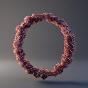 3D letter o covid 19 model