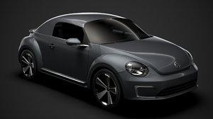 3D volkswagen e bugster 2020
