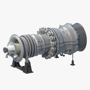 sgt6-5000f gas turbine generation 3D