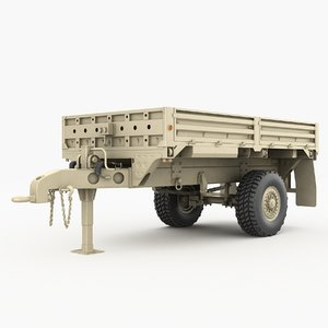3D m1082 trailer vehicles military