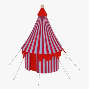 3D model circus tent